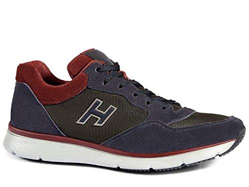 Hogan tradicionales 20.15 zapatillas de deporte en gamuza con paneles de tela - Número de modelo: HXM2540S420E4S559L Azul