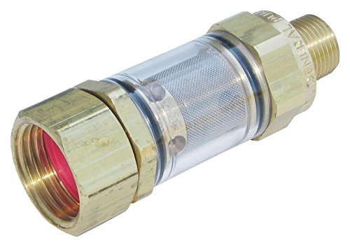 Inlet Filter - General Pump 100650 DuraView Inlet Filter Integrated Garden Hose Nut, 8.0 GPM, 150 Maximum psi