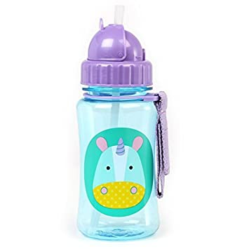 Skip Hop Zoo Straw Bottle Baby Unicorn Kids Straw Drinking Bottle