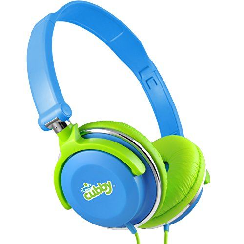 Sprout Channel SCH101 Sprout Channel Cubby Kid Safe Headphones with Built-In Volume Limiter, Blue/Green/White