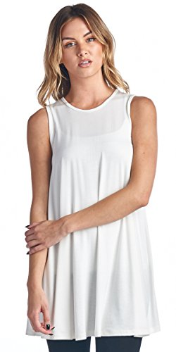 Popana Loose Long Tunic Tank