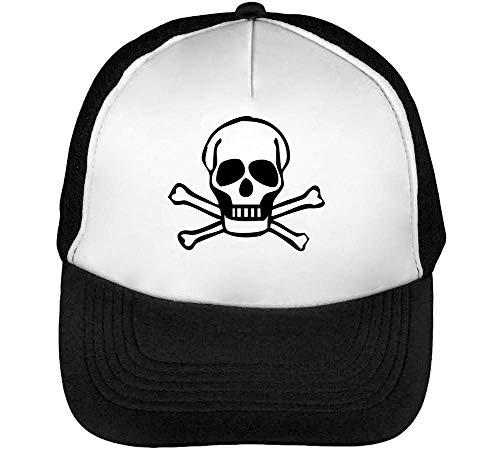 Pirate Skull Bones Graphic Gorras Hombre Snapback Beisbol Negro Blanco