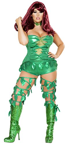 Sexy Poison Ivy Halloween Costume - Green - X-Large