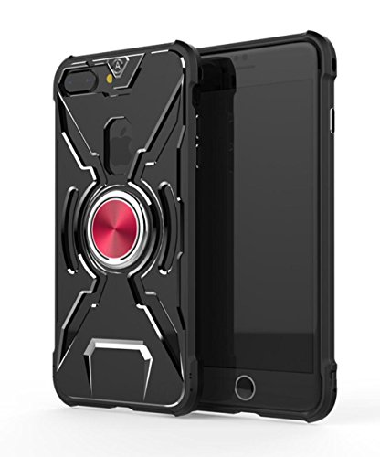 Price comparison product image For iPhone7 Plus / iPhone8 Plus Case,  Omio Aviation Aluminum Metal Rugged Armor Hard Cover Ring Kickstand Stand Bumper Shockproof Thin Protective Back Shell For Apple iPhone 7 Plus / iPhone 8 Plus