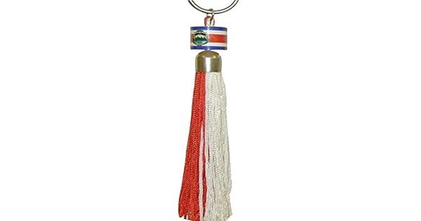 Amazon.com: Costa Rica Mini pequeña bandera Anillo Tassel ...
