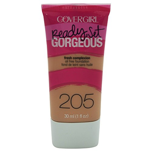 COVERGIRL Ready Set Gorgeous Foundation Natural Beige 205, 1 oz (packaging may vary)