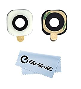 EShine® Back Rear Camera Glass Lens Replacement with Adhesive Preinstalled for Samsung Galaxy S6 G920 / S6 EDGE G925 (ALL CARRIERS)+ EShine Cloth