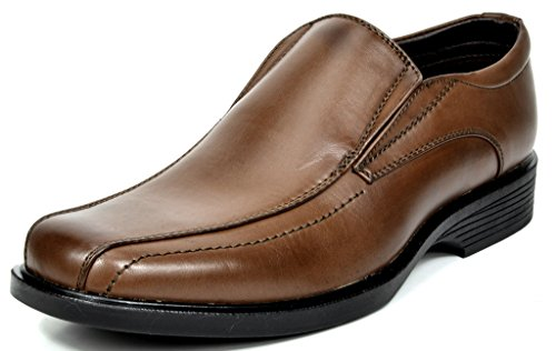 - Bruno Marc Men's Cambridge-05 Dark Brown Leather Lined Dress Loafers Shoes - 8 M US