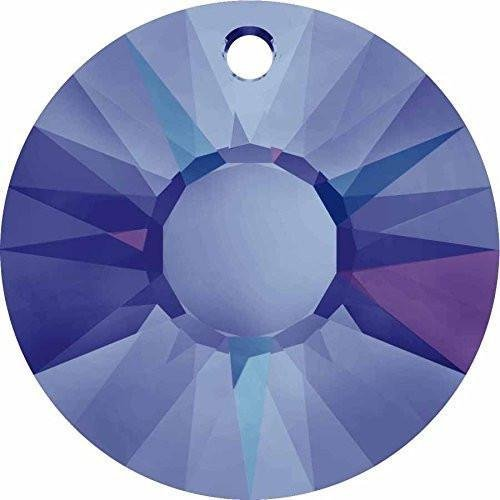 (6724 Swarovski Pendant Sun | Crystal Heliotrope P | 12mm - Pack of 5 | Small & Wholesale Packs)