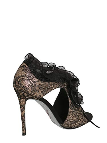 Pelle Rene C09176105pi01v050 Sandali Caovilla rosa Donna Nero xIOq8I