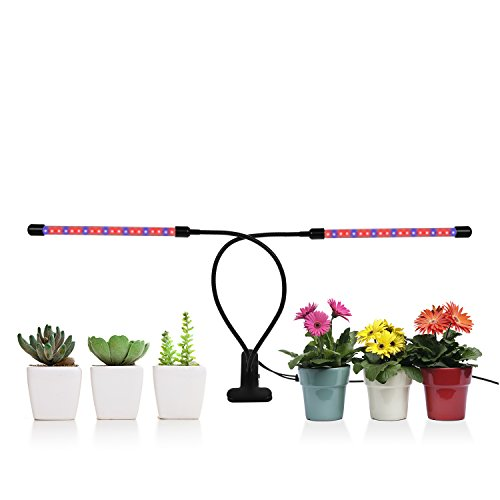 Grow Light for Plants, 20W TGGOUS 40 LED 9 Dimmable Levels Grow Lamps for Indoor Plants Flowers, 360 Degree Adjustable Gooseneck, 3/9/12H Timer, 3 Switch Modes [2018 Upgrade Version]