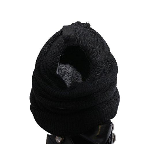 Winter Knee Boots Knit Studded BIGTREE Boots Metal High Black Sock Strip Women Elegant By Long Comfortable tUfrBwtq