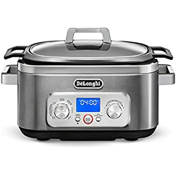 De'Longhi Livenza 7-in-1 Multi-Cooker Programmable SlowCooker, Bake, Brown, Saute, Rice, Steamer & Warmer, Easy to Use and Clean, Nonstick Dishwasher Safe Pot, (6-Quart), CKM1641D