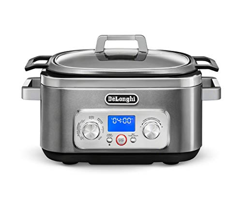 De'Longhi Livenza 7-in-1 Multi-Cooker Programmable SlowCooker, Bake, Brown, Saute, Rice, Steamer & Warmer, Easy to Use…