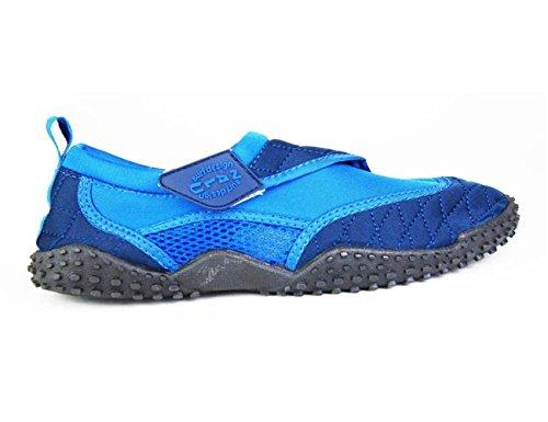 Nalu Velcro Aqua Traje de buceo Zapatos Infantil Tallas UK5 - UK9 Azul y Azul marino