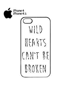 Wild Hearts Can't Be Broken Bad Girl Cell Phone Case Cover iPhone 4&4s White by icecream design