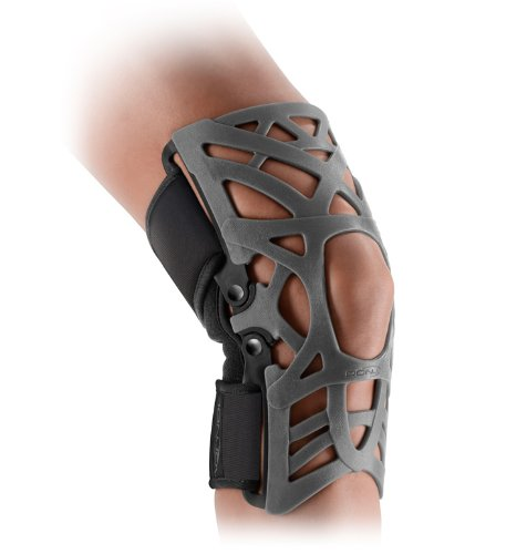 DonJoy Reaction WEB Knee Support Brace with Compression Undersleeve: Grey, - X-small Web