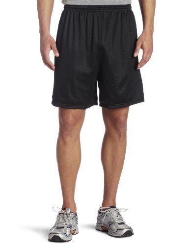 Soffe Mesh - Soffe Men's Nylon Mini-Mesh Fitness Short Black  Medium
