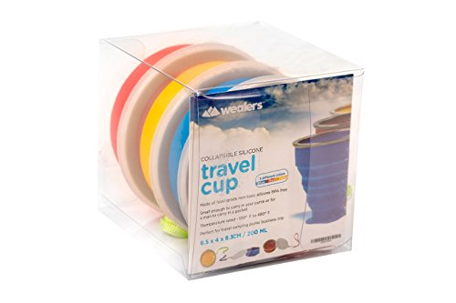 Wealers Collapsible Travel Mug Silicone Bpa-free 7 Ounce Foldable Cup Dishwasher Safe Pop up Cup. Cool Funny Unique Camping Travelling Gear Supplies Accessory.