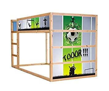 latest sticker autocollant foot pour enfant de ikea im kura mezzanine with autocollant meuble ikea. Black Bedroom Furniture Sets. Home Design Ideas