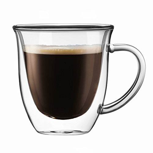 JoyJolt Serene Double Walled Insulated Glasses Coffee Mug