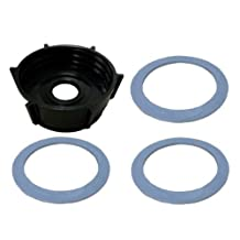 Oster Blender Bottom Jar Base Cap & (3) Gasket Seal Rubber Rings by TacPower