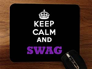 Keep Calm And Swag Desktop Mouse Pad by supermalls