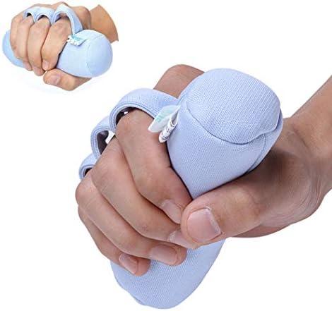WANGXL Handflächenschutz Mit Fingertrennern, Finger-Kontraktionskissen - Finger-Rehabilitationshilfe für ältere Menschen, Patienten mit Schlaganfall, Hemiplegie und Handgeschwüren