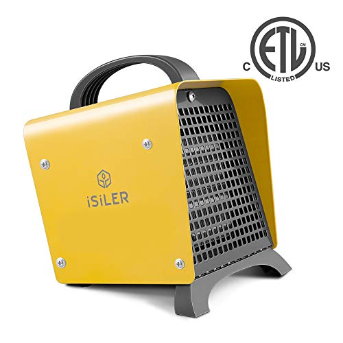 Space Heater, iSiLER 1500W Portable Heater with Adjustable Thermostat, Hot & Cool Fan Indoor Ceramic Heater with Overheat Protection, Electric PTC Heater with ETL Certified for the Home or Office