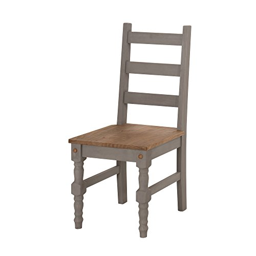 Manhattan Comfort Jay Collection Traditional Wooden Dining Chair With Trim Finish, Gray/Wood (Manhattan Chair)