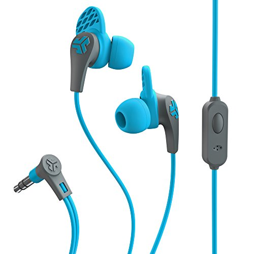 JLab Audio JBudsPRO Premium in-ear Earbuds with Mic, Guaranteed Fit, GUARANTEED FOR LIFE  - Blue