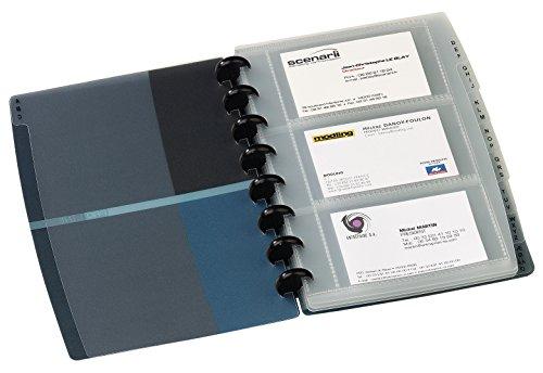 (Elba Proline Business Card Holder Polypropylene 9 Part A-Z Index For 90 Cards A5 Blue Ref M55403203)