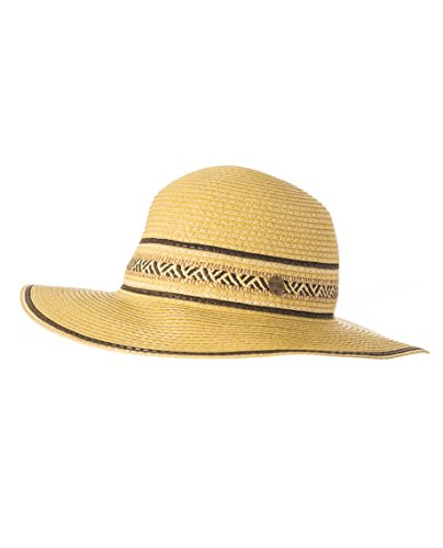Boho-Chic Vacation & Fall Looks - Standard & Plus Size Styless - Rip Curl Streak Boho Straw Hat - Natural
