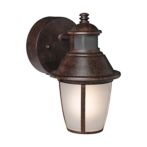Brinks 7234bz Lantern Oil Rubbed Bronze With Motion Light