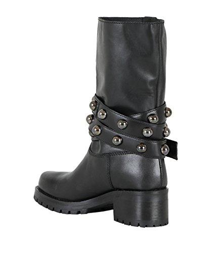Fw Scarpe Alta Black Lover Boot Bikes Cult Donna 1808 Cle103098 18 Pelle Metallica 17 r8Parq0Z