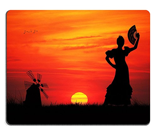 Liili Mouse Pad Natural Rubber Mousepad spanish girl IMAGE ID 16857013 (Girls Spanish Flamenco Dancer Costume)