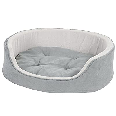 PETMAKER Medium Cuddle Round Microsuede Pet Bed - Gray from Trademark - Pet Products