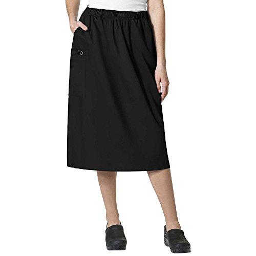 Cargo Pocket Skirt (WonderWink Women's Plus Size Wonderwork Pull-on Cargo Scrub Skirt, Black, 3X-Large)
