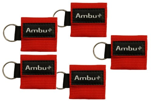 - Ambu Res-Cue Key CPR Mask with Mini Keychain Pouch, Red (Pack of 5)
