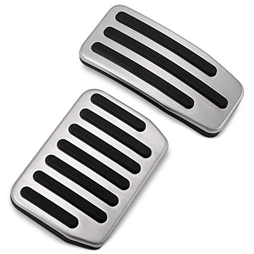 als Set Non-Slip Performance Foot Pedal Pads Covers Anti-Slip Accelerator Foot Pedals Aluminum Car Replacement for Model 3 ()