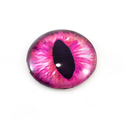 30mm Glass Eye Single Pink Cat Glass Eye Dragon Cabochon Taxidermy Sculpture or Jewelry Making Crafts