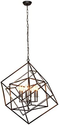 AA Warehousing LZ20812-6BK Y-D cor Electrified 6 Light Chandelier in Black