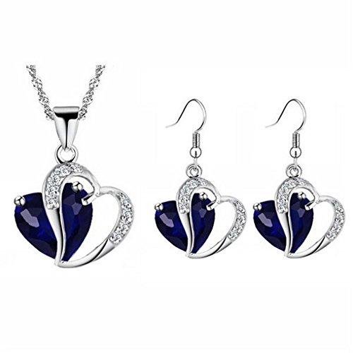 18kgp Earrings Set Pendant (fonk: 18KGP Heart rhinestones Pendant Necklace Earrings set 80172)