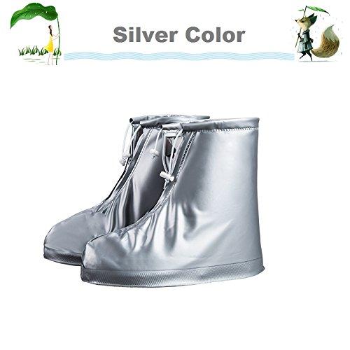 f5070a500e Reusable Rain Shoes Covers Waterproof Overshoes, Unisex PVC Anti-slip Snow  Rain Boot by UNPAD