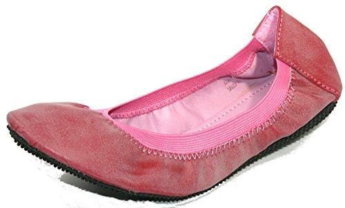 Nieuwe Dames T. Klein Comfort Slip Op Ballet Flats Rose