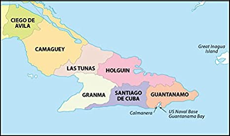Amazoncom Cuba Political Map 36 W X 2136 H Office Products - Map-of-cuba-and-us