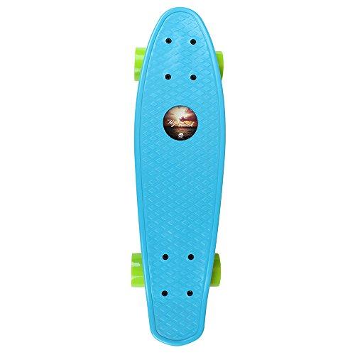 In Motion Nightbreak Series Plastic Cruiser Skateboards, Blue - Motion Longboards