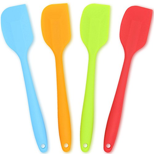 iece Set,Heat-Resistant Spatulas,Non-stick Rubber Spatulas with Stainless Steel Core (Kitchen Spatula)