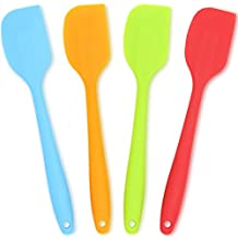 Silicone Spatula 4-piece Set,Heat-Resistant Spatulas,Non-stick Rubber Spatulas with Stainless Steel Core
