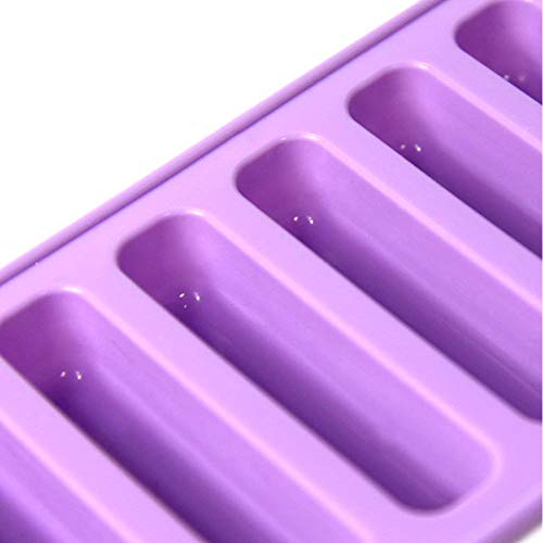 PERNY Silicone Ice Stick Tray, Easy Push Pop Out Narrow Ice Stick Cubes for Sport and Water Bottles. Pack of 2 by PERNY (Image #3)'